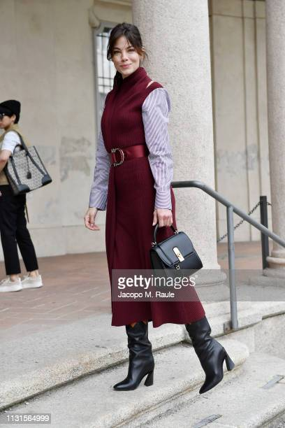 Michelle Monaghan attends the Salvatore Ferragamo show during Milan Fashion Week Autumn/Winter 2019/20 on February 23, 2019 in Milan, Italy.