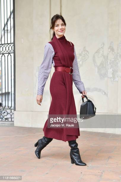 Michelle Monaghan attends the Salvatore Ferragamo show during Milan Fashion Week Autumn/Winter 2019/20 on February 23 2019 in Milan Italy