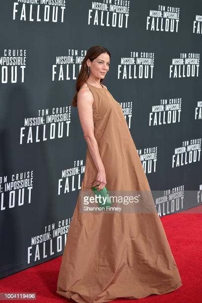 Michelle Monaghan attends the US Premiere of Mission Impossible Fallout at Smithsonian's National Air and Space Museum on July 22 2018 in Washington...