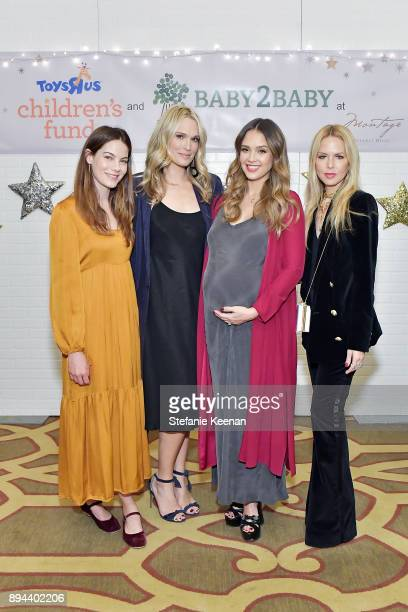 Michelle Monaghan Molly Sims Jessica Alba and Rachel Zoe attend The Baby2Baby Holiday Party Presented By Toys'R'Us At Montage Beverly Hills at...
