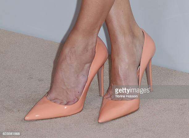 Michelle Monaghan shoe detail attends the 40th Anniversary of Rolex Awards for Enterprise at Dolby Theatre on November 15 2016 in Hollywood California