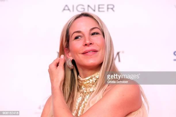 Michelle Monballijn wearing jewelry by Thomas Jirgens Juwelenschmiede during the German Film Ball 2018 at Hotel Bayerischer Hof on January 20 2018 in...
