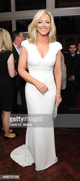 Michelle Mone attends the launch of new book 'My Fight To The Top' by Ultimo founder Michelle Mone at Salmontini on March 12 2015 in London England