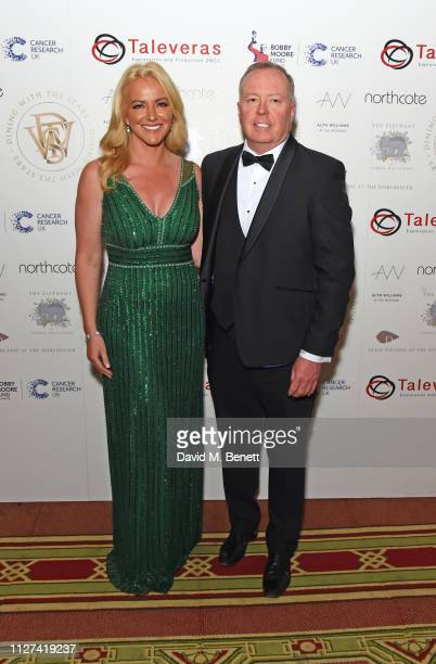 Michelle Mone Baroness Mone and Doug Barrowman attend the 7th annual 'Dining With The Stars' charity dinner in aid of Cancer Research UK's Bobby...