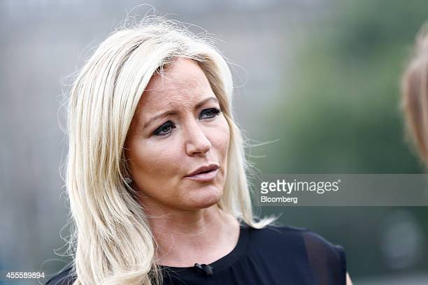 Michelle Mone chief executive officer of MJM International Ltd a Glasgowbased manufacturer of the Ultimo bra speaks during a Bloomberg Television...