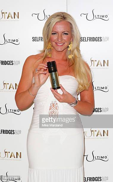 Michelle Mone launches her new selftan range UTan at Selfridges on May 10 2012 in London England