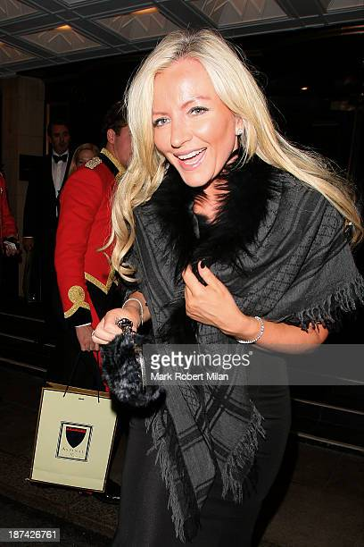 Michelle Mone leaves the Dorchester hotel on November 8 2013 in London England