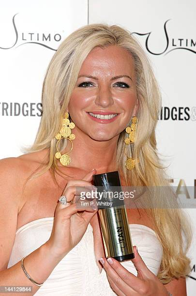 Michelle Mone OBE launches new self tan range Ultimo Beauty with UTan at Selfridges on May 10 2012 in London England