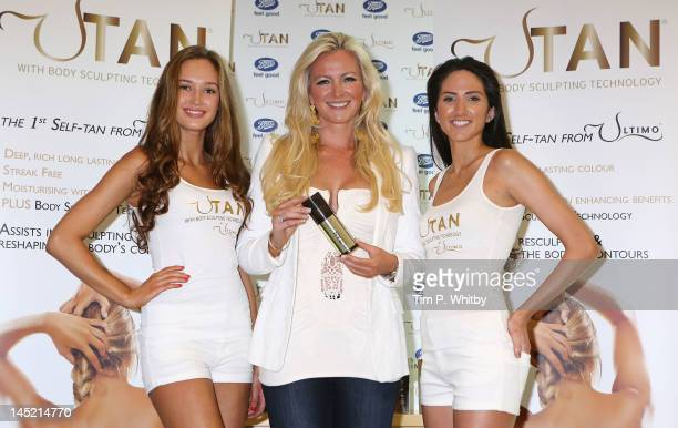 Michelle Mone OBE promotes her new self tan range UTan at Boots in Westfield London on May 24 2012 in London England
