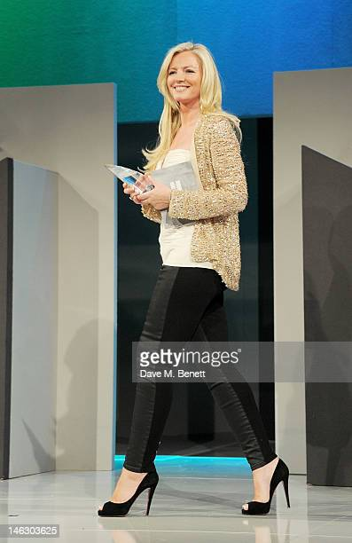 Michelle Mone presents the Barclays New Business Idea award at the Graduate Fashion Week 2012 Gala Show at Earls Court 2 on June 13 2012 in London...