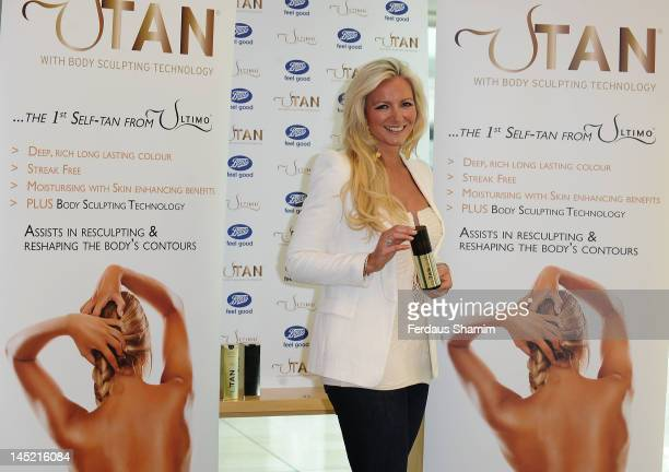 Michelle Mone promotes her tanning range UTan at Boots on May 24 2012 in London England