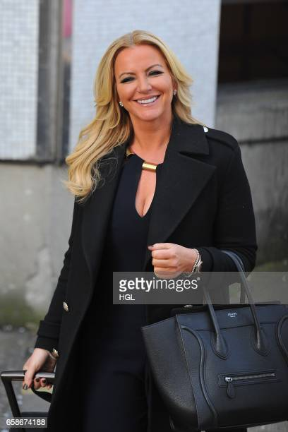 Michelle Mone seen at the ITV Studios on March 28 2017 in London England