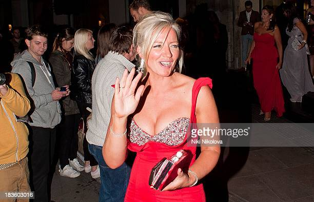 Michelle Mone sighted leaving the Grosvenor Hotel Park Lane on October 7 2013 in London England