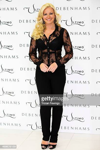 Michelle Monecoowner of Ultimo launches the new Ultimo Valentines Collection at Debenhams on February 11 2014 in London England