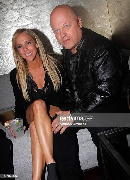Michelle Moran and Michael Chiklis attend the American Music Awards after party at The Conga Room at LA Live on November 22 2010 in Los Angeles...