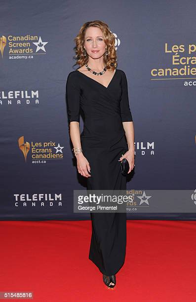 Michelle Nolden of Saving Hope arrives at the 2016 Canadian Screen Awards at the Sony Centre for the Performing Arts on March 13 2016 in Toronto...