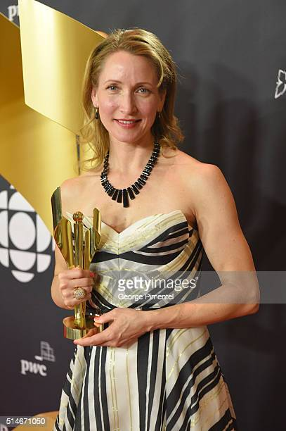 Michelle Nolden winner of best performance in a program or series produced for digital media for Saving Hope Psychic Healing attends the Canadian...