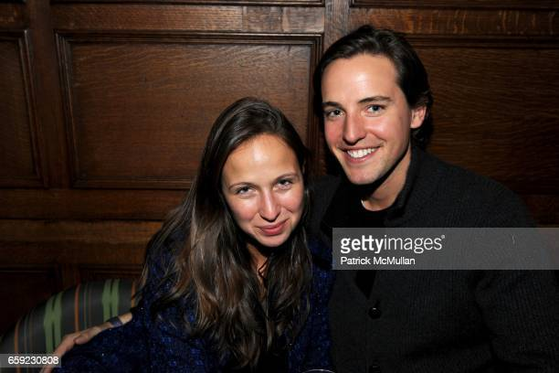 Michelle Nonoo guest and Alexander Gilkes attend SUPER BOWL Party at The Oak Room on February 1 2009 in New York City