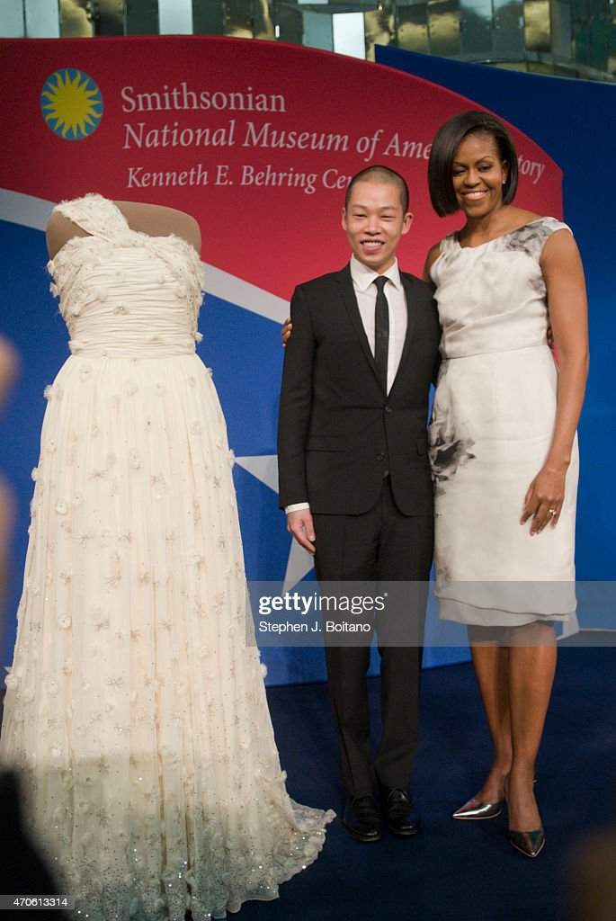 Michelle Obama And Jason Wu Look At The Inaugural Gown Pictures