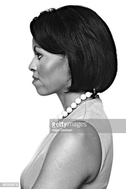 Michelle Obama is photographed at the Hyatt Hotel in Chicago for NewsweekPublished image
