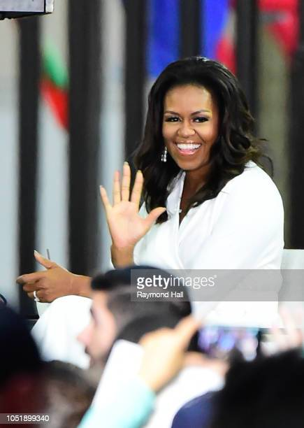 Michelle Obama is seen on the set of the today show on October 11 2018 in New York City