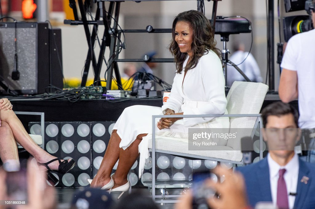 Michelle Obama Celebrates International Day Of The Girl On NBC's 'Today' : News Photo