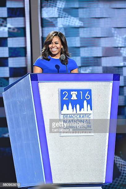 Michelle Obama speaks at the 2016 Democratic National ConventionDay 1 at Wells Fargo Center on July 25 2016 in Philadelphia Pennsylvania