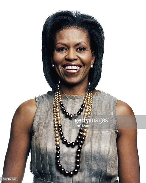 Michelle Obama wife of Barack Obama poses at a portrait session at the Democratic Convention in Denvewr Colorado on August 26 2008 Published image