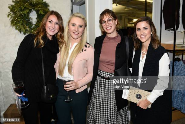 Michelle of Fifty Two Thursdays Kristyn Royster of Kristyn Alysse Julien Garman and Ashlee of Cobalt Chronicles attend Trunk Club's Launch of its New...
