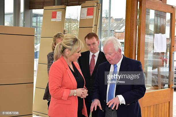 Michelle O'Neill , Minister of Agriculture and Rural Development visited the Linen Green Retail complex in Moygashel, Dungannon and spoke with Sean T...