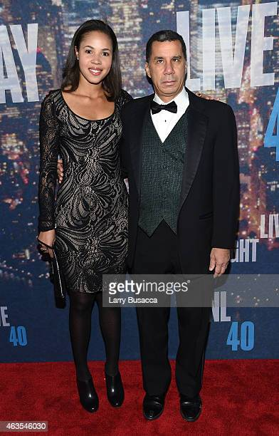 Michelle Paige Paterson and former Governor of New York David Paterson attend SNL 40th Anniversary Celebration at Rockefeller Plaza on February 15...