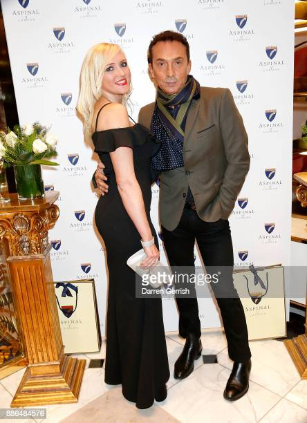 Michelle Palmer and Bruno Tonioli attend the new flagship store launch of Aspinal on Regent's Street St James's on December 5 2017 in London England