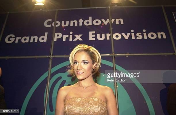 """Michelle , Party nach;ARD-Musikshow """"Countdown Grand Prix;Eurovision"""", Hannover, """"Preussag-Arena"""",;Bühne, Freude, Siegerin, Bühne,"""
