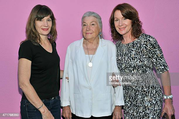 Michelle Pat and Delilah Loud attend the Photography Exhibition at Paul Smith LA on April 30 2015 in Los Angeles California