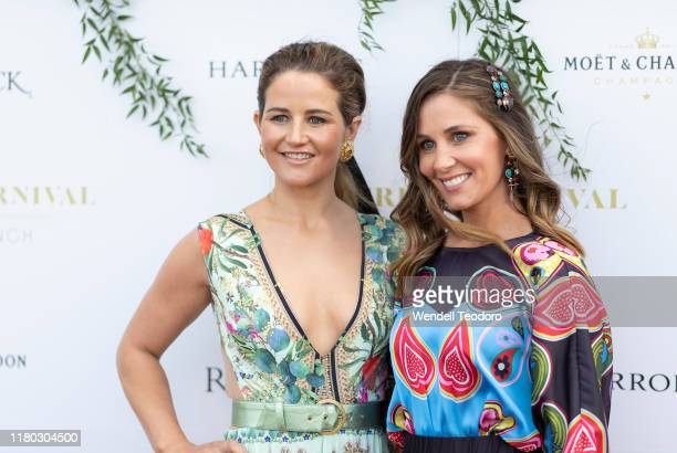 Michelle Payne and Cathy McEvoy attend the Everest Carnival Fashion Lunch at Royal Randwick Racecourse on October 10 2019 in Sydney Australia