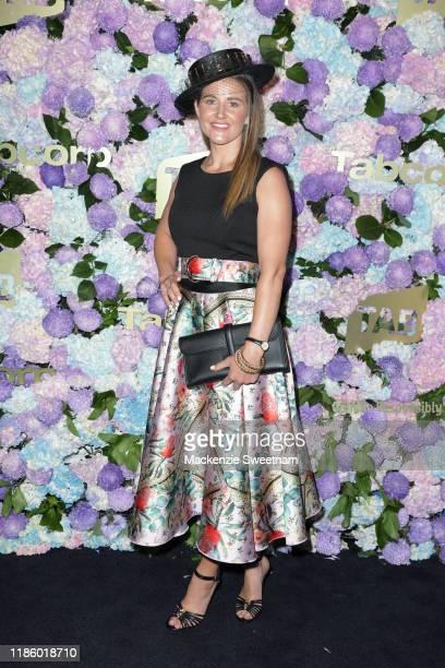 Michelle Payne attends Oaks Day at Flemington Racecourse on November 07, 2019 in Melbourne, Australia.