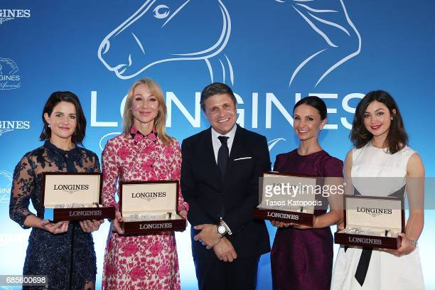 Michelle Payne Belinda Stronach Mr JuanCarlos Capelli Georgina Bloomberg and Reed Kessler attend the Longines Ladies Awards ceremony hosted by...