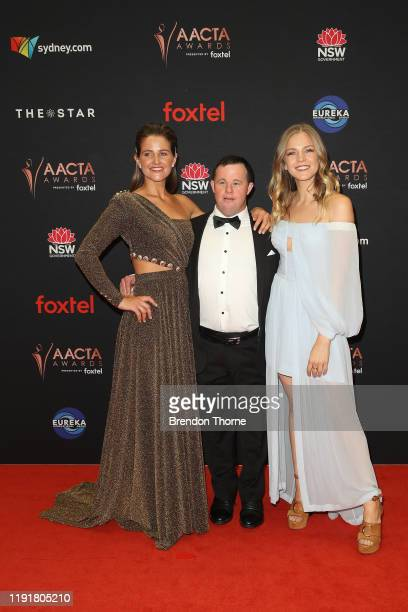 Michelle Payne Stevie Payne and Sophia Forrest attends the 2019 AACTA Awards Presented by Foxtel at The Star on December 04 2019 in Sydney Australia