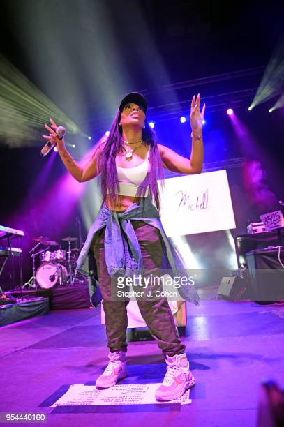 K Michelle performs during the Derby Soundstage at Broadbent Arena on May 3 2018 in Louisville Kentucky