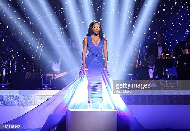 K Michelle performs during the The BET Honors 2015 at the Warner Theatre on January 24 2015 in Washington DC