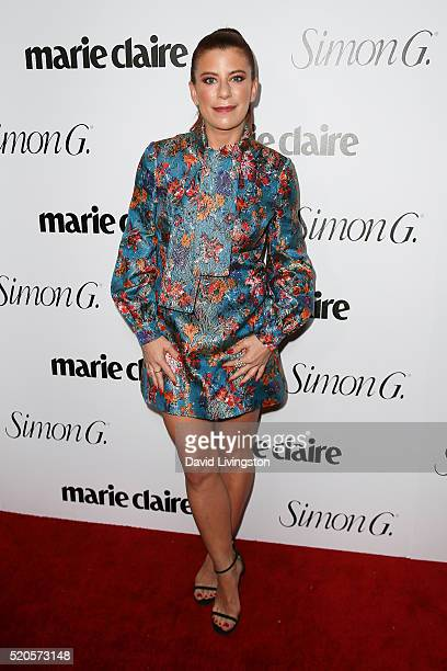 Michelle Pesce arrives at the Marie Claire Fresh Faces Party at the Sunset Tower Hotel on April 11 2016 in West Hollywood California