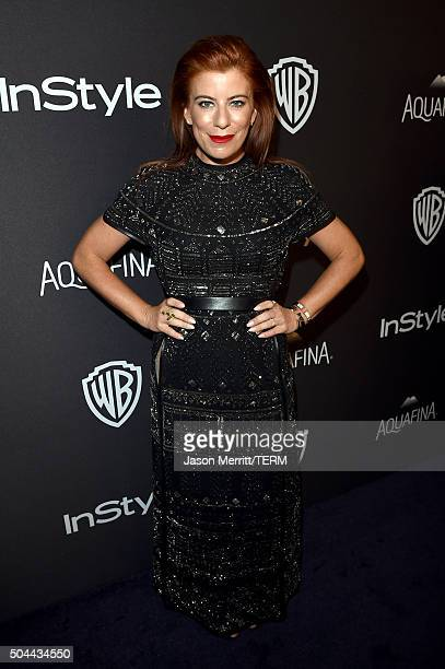 Michelle Pesce attends The 2016 InStyle And Warner Bros 73rd Annual Golden Globe Awards PostParty at The Beverly Hilton Hotel on January 10 2016 in...