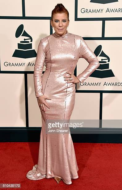 Michelle Pesce attends The 58th GRAMMY Awards at Staples Center on February 15 2016 in Los Angeles California