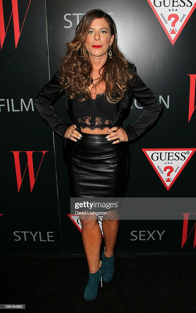 DJ MIchelle Pesce attends W Magazine and Guess celebrating 30 years of fashion and film and the next generation of style icons at Laurel Hardware on January 8, 2013 in West Hollywood, California.