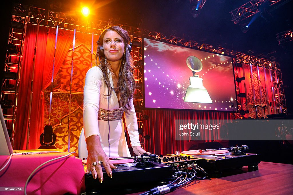 DJ Michelle Pesce performs at the 55th Annual GRAMMY Awards after party at the Los Angeles Convention Center on February 10, 2013 in Los Angeles, California.