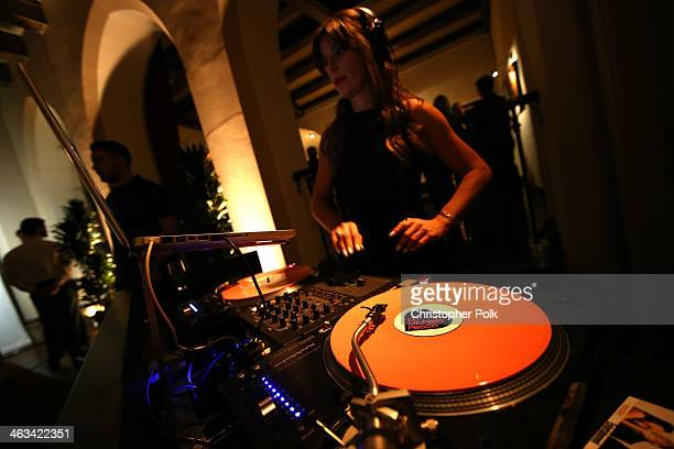 Michelle Pesce spins at the Entertainment Weekly celebration honoring this year's SAG Awards nominees sponsored by TNT TBS and essie at Chateau...