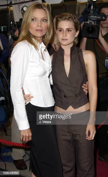 Michelle Pfeiffer Alison Lohman during 2002 Toronto Film Festival 'White Oleander' Premiere at Roy Thompson Hall in Toronto Ontario Canada