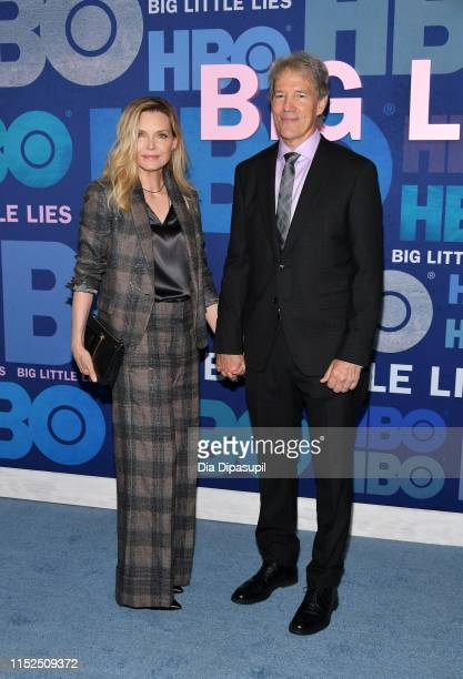 """Michelle Pfeiffer and David E. Kelley attend the """"Big Little Lies"""" Season 2 Premiere at Jazz at Lincoln Center on May 29, 2019 in New York City."""