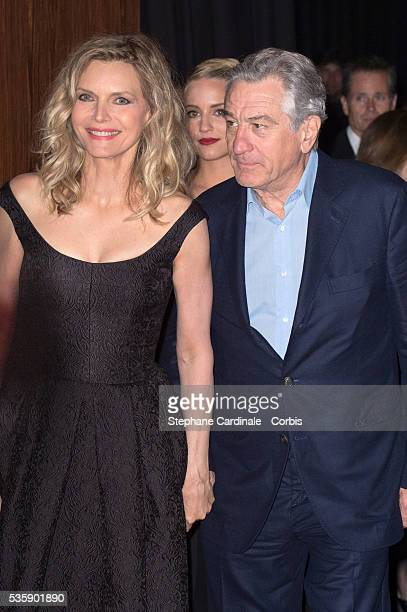 Michelle Pfeiffer and Robert De Niro attend the 'Malavita' premiere at Europacorp Cinemas at Aeroville Shopping Center in RoissyenFrance France