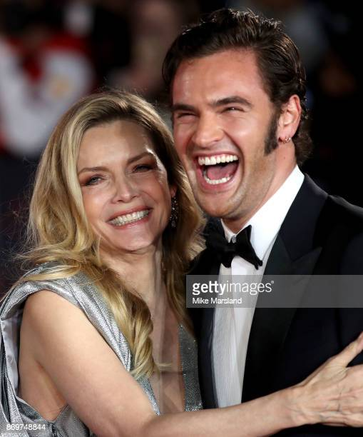 Michelle Pfeiffer and Tom Bateman attend the 'Murder On The Orient Express' World Premiere at Royal Albert Hall on November 2 2017 in London England